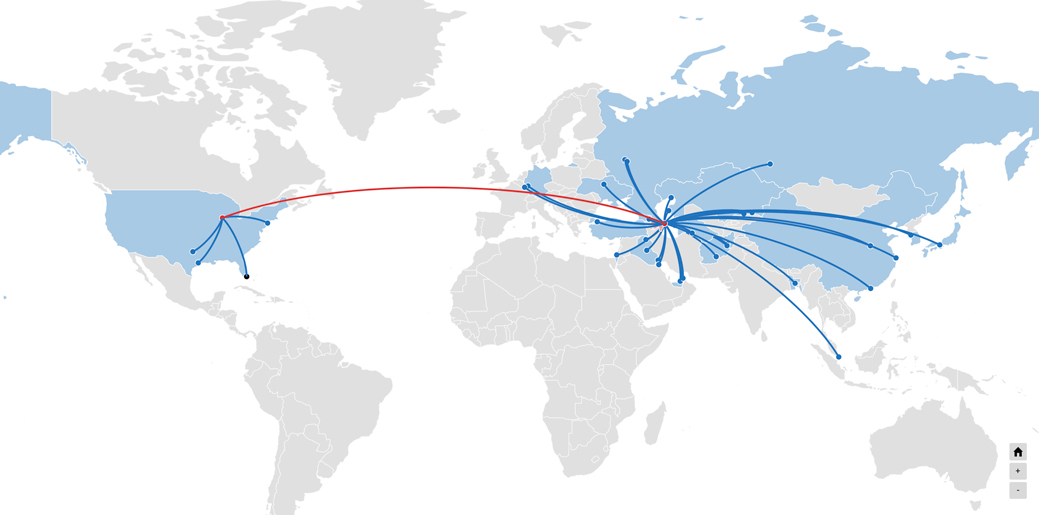 Global Feeder Services Network Map